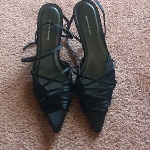 Valerie Stevens strappy satin shoe.